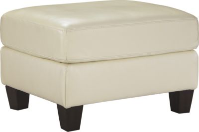 Ashley O'Kean Cream Ottoman