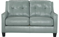 Ashley O'Kean Aqua Loveseat