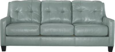 Ashley O'Kean Aqua Queen Sleeper Sofa