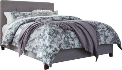 Ashley Gray Upholstered Queen Bed