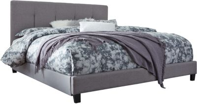Ashley Gray Upholstered King Bed