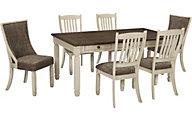 Ashley Bolanburg Table, 4 Side & 2 Uph. Chairs