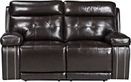 Ashley Graford Brown Power Reclining Loveseat