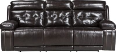 Ashley Graford Brown Power Reclining Sofa
