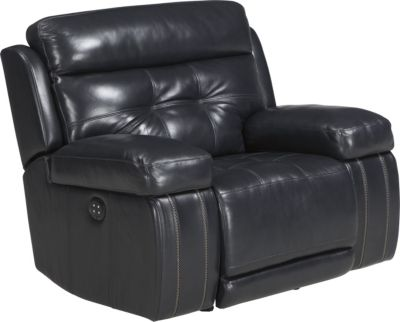 Ashley Graford Navy Power Recliner