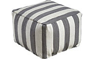 Ashley Bane White and Gray Pouf