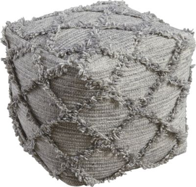 Ashley Adelphie Gray Pouf