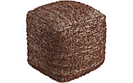 Ashley Darita Brown Pouf