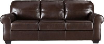 Ashley Canterelli Brown Leather Sofa