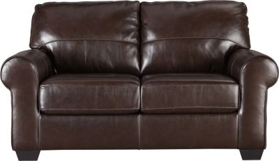 Ashley Canterelli Brown Leather Loveseat