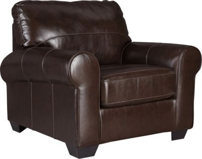 Ashley Canterelli Brown Leather Chair