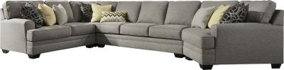 Ashley Cresson Right-Side Cuddler 4-Piece Sectional