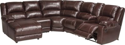 Ashley MacGrath Bonded Leather 6-Piece Sectional