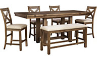 Ashley Moriville 6-Piece Counter Set