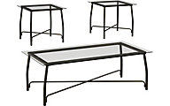 Ashley Burmesque Collection Coffee Table & 2 End Tables