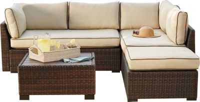 Ashley Loughran 4 Piece Outdoor Sectional Set Homemakers Furniture