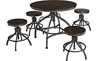 Ashley Odium Adjustable Counter Table & 4 Stools