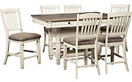 Ashley Bolanburg Counter Table & 6 Stools