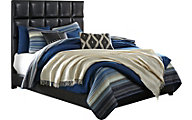 Ashley Queen Black Upholstered Bed