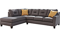 Ashley Kirwin Nuvella Gray Left-Side Chaise Sofa
