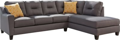 Ashley Kirwin Nuvella Gray Right-Side Chaise Sofa
