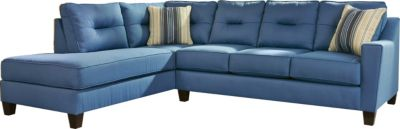Ashley Kirwin Nuvella Blue Left-Side Chaise Sofa