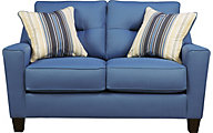 Ashley Forsan Nuvella Blue Loveseat