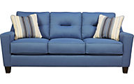 Ashley Forsan Nuvella Blue Sofa