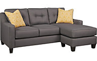 Ashley Aldie Nuvella Gray Queen Sleeper Sofa Chaise