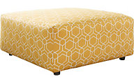 Ashley Ayanna Nuvella Gold Oversized Ottoman