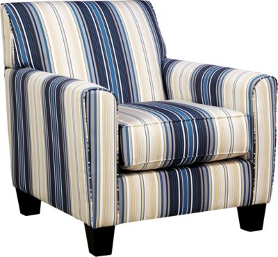 Ashley Ayanna Nuvella Indigo Accent Chair