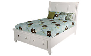 Ashley Prentice White King Storage Bed