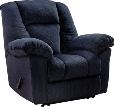 Ashley Nimmons Blue Wall Recliner