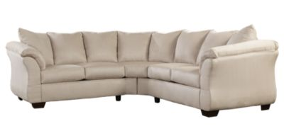 Ashley Darcy Microfiber Cream 2-Piece Sectional