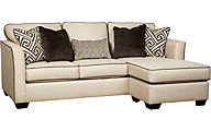 Ashley Carlinworth Queen Sleeper Sectional Chaise Sofa