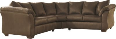 Ashley Darcy Microfiber Brown 2-Piece Sectional