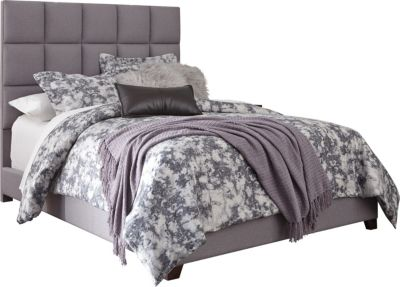 Ashley Queen Gray Upholstered Bed