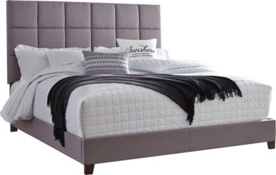 Ashley King Gray Upholstered Bed