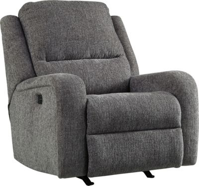 Ashley Krismen Gray Power Rocker Recliner