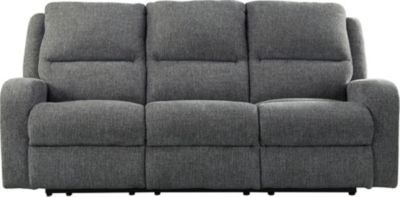 Ashley Krismen Gray Power Reclining Sofa