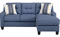 Ashley Aldie Nuvella Blue Sofa Chaise
