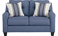 Ashley Aldie Nuvella Blue Loveseat