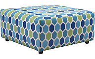 Ashley Ayanna Nuvella Turquoise Oversized Ottoman