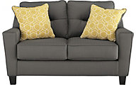 Ashley Forsan Nuvella Gray Loveseat