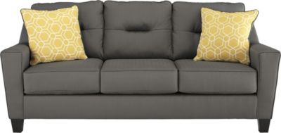 Ashley Forsan Nuvella Gray Queen Sleeper Sofa