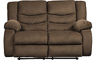 Ashley Tulen Chocolate Reclining Loveseat