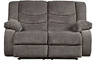 Ashley Tulen Gray Reclining Loveseat
