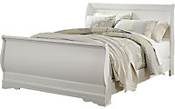 Ashley Anarasia White Queen Sleigh Bed