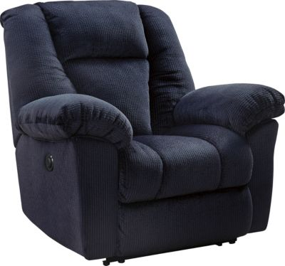 Ashley Nimmons Blue Power Recliner