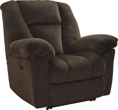 Ashley Nimmons Brown Power Recliner